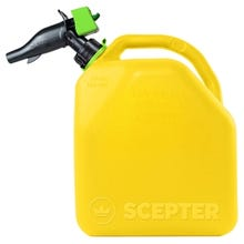 Scepter FR1D501 Diesel Container, 5 gal, HDPE, Yellow