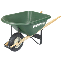 Scenic Road 6 Cu Ft Heavy Duty High-Density Poly Wheelbarrow