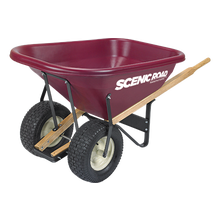 Scenic Road 8 Cu Ft Tradesmen Duty High-Density Poly Dual Wheel Wheelbarrow
