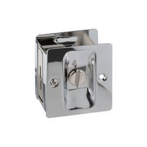 Privacy Pocket Door Pull with Lock