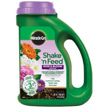 Miracle-Gro Shake N' Feed Rose and Bloom Plant Food, Solid, 4.5 lb.