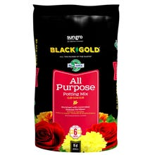 sun gro BLACK GOLD 1410102 16.0 QT P Potting Mix, Brown/Earthy, Granular Grain, 120 Bag