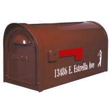 Special Lite Classic Curbside Post Mount Mailbox Burgundy