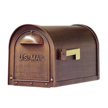 Special Lite Classic Curbside Post Mount Mailbox Copper