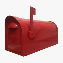 Special Lite Classic Curbside Post Mount Mailbox Red