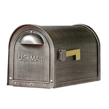 Special Lite Classic Curbside Post Mount Mailbox Swedish Silver