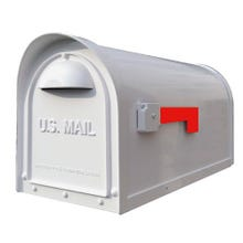 Special Lite Classic Curbside Post Mount Mailbox White