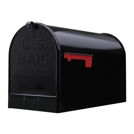 Gibraltar Jumbo Post Mount Steel Mailbox