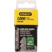 STANLEY TRA206T Wide Crown Staple, 3/8 in L Leg, 22 ga, Pack