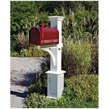"White ""St. Andrews"" Style PVC Mailbox Post (Assembled)"