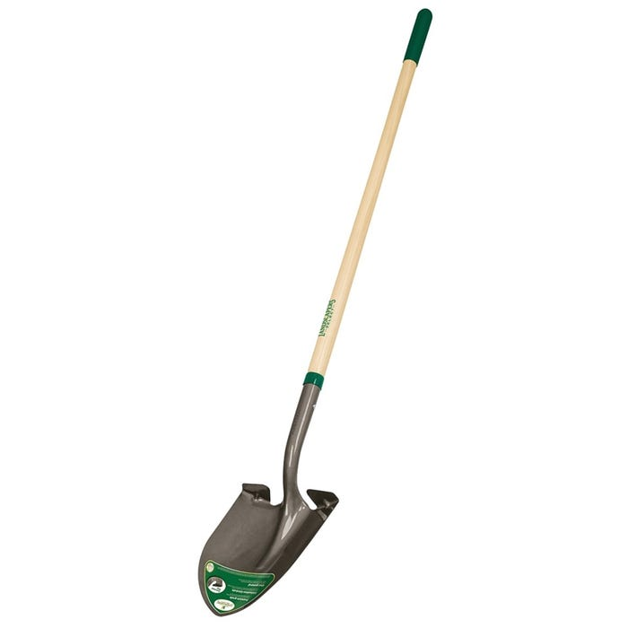 Landscapers Select Round Point Shovel, Wood Handle 48