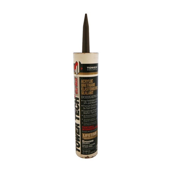 TOWER TECH2 Acrylic Urethane Elastomeric Sealant Bronze 10 oz
