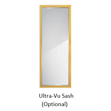 CDC Easy-Change Glass Sash,Insert Only, for Ultra-Vu Wood Combination Door, fits 32 in. x 81 in.