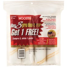 "Wooster 9"" x 3/8"" Pro/Doo-Z FTP Paint Roller (4-Pack)"