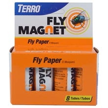 TERRO Fly Magnet Fly Paper Trap, Solid, 8 Pack