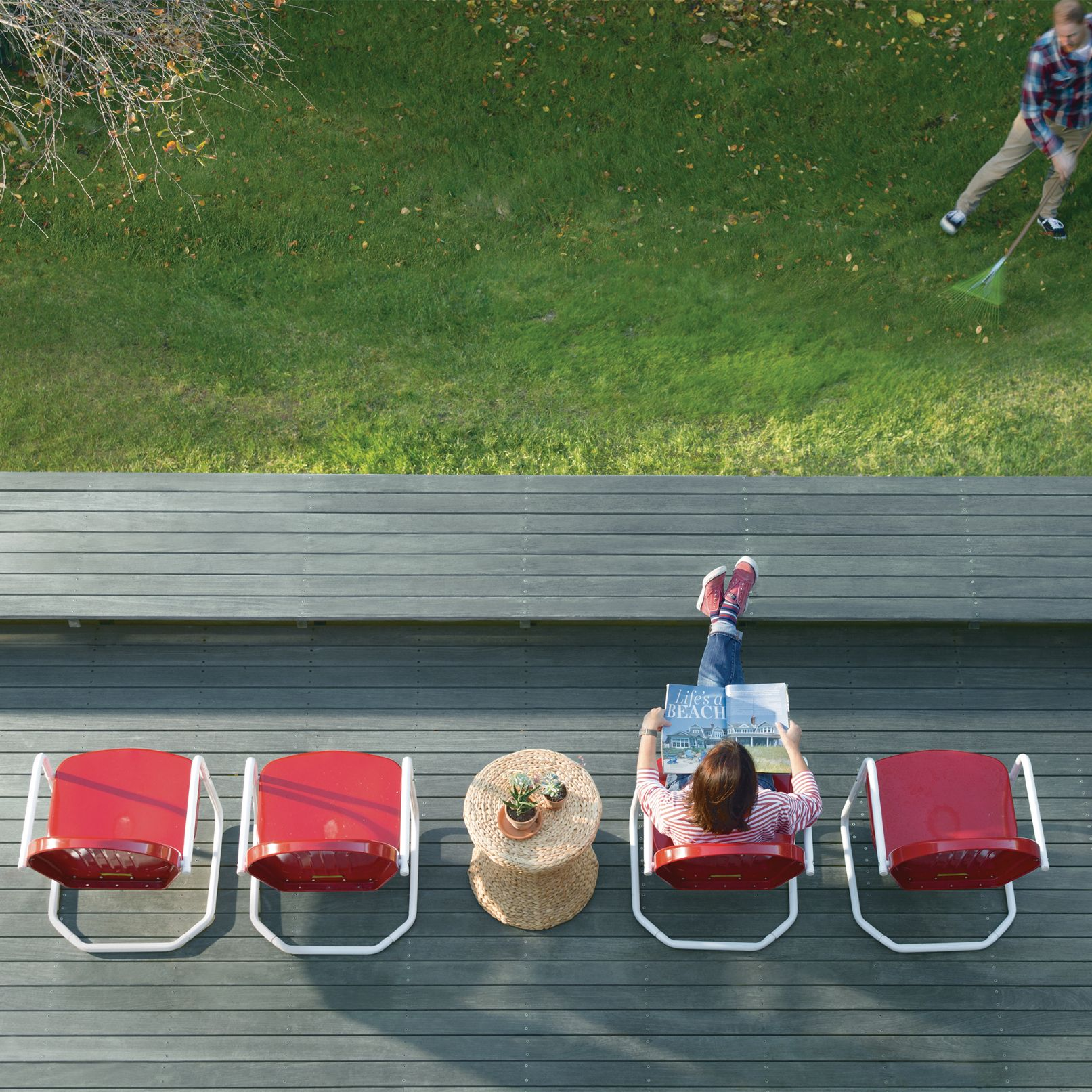Birds Eye View of Deck and Yard