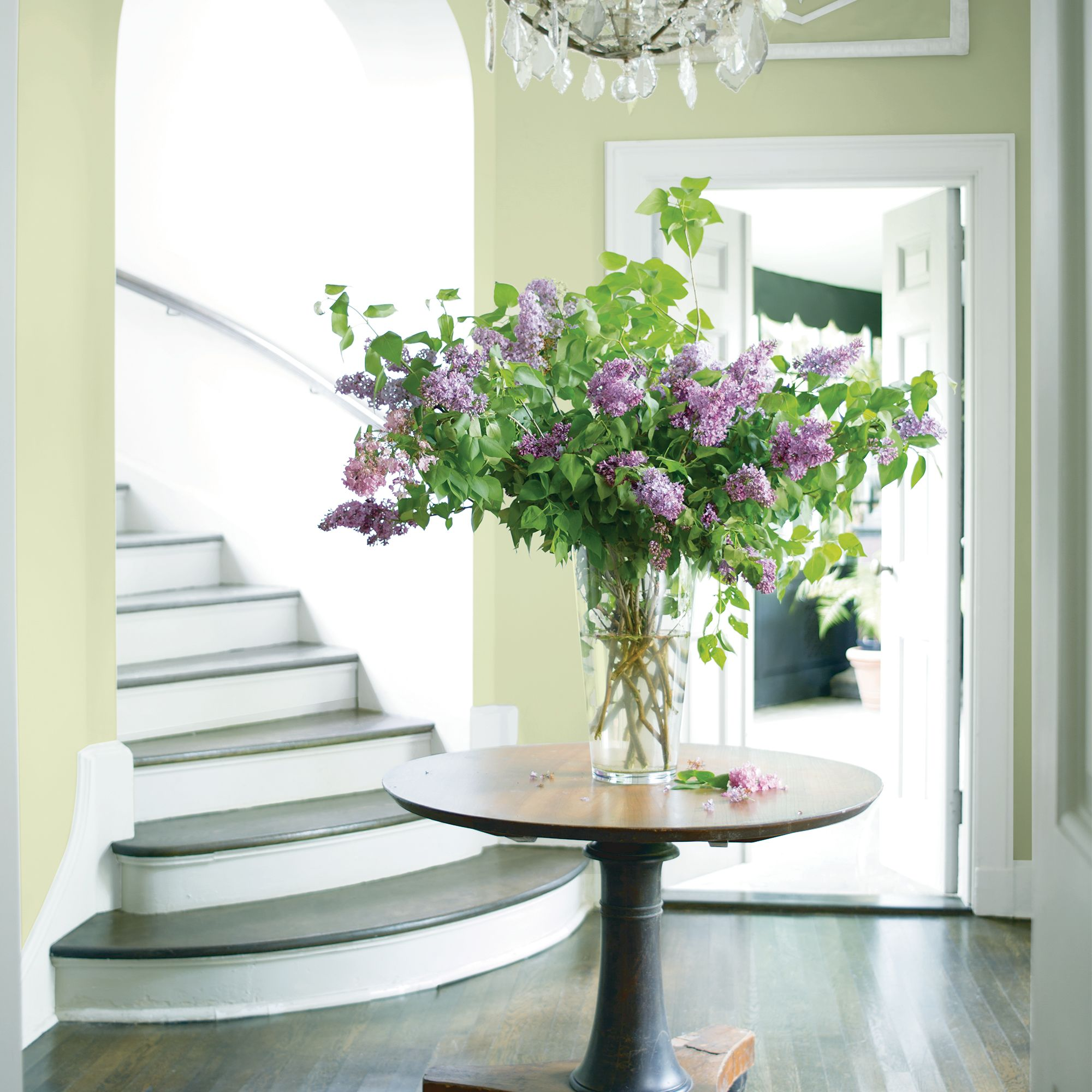 Entry with Center Table with Flowers