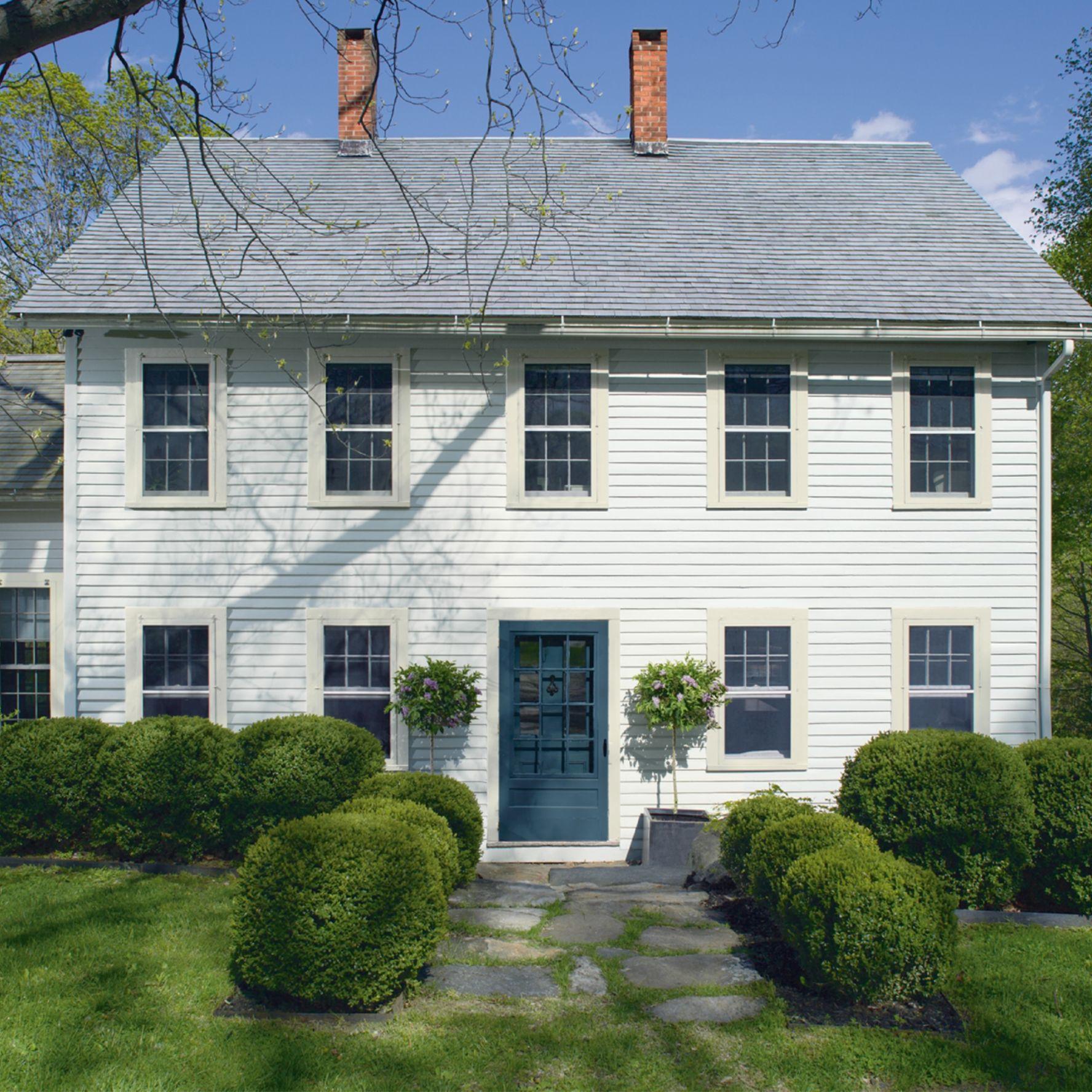 Gray Colonial Exterior