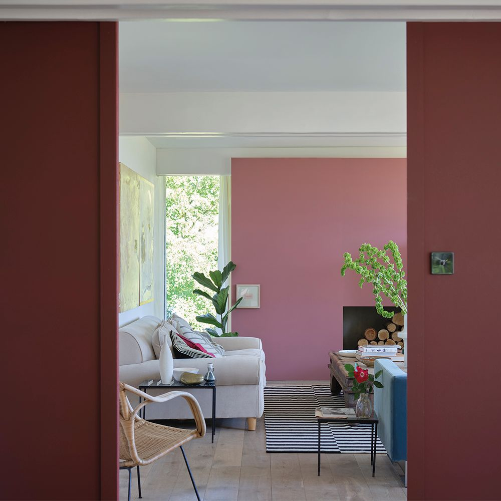 Deep Reddish Brown Living Room