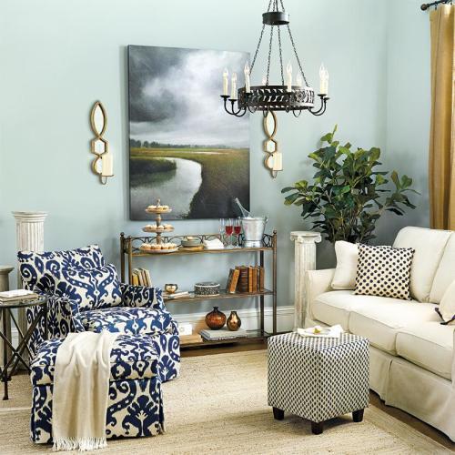 Beach Glass living room via Ballard Design