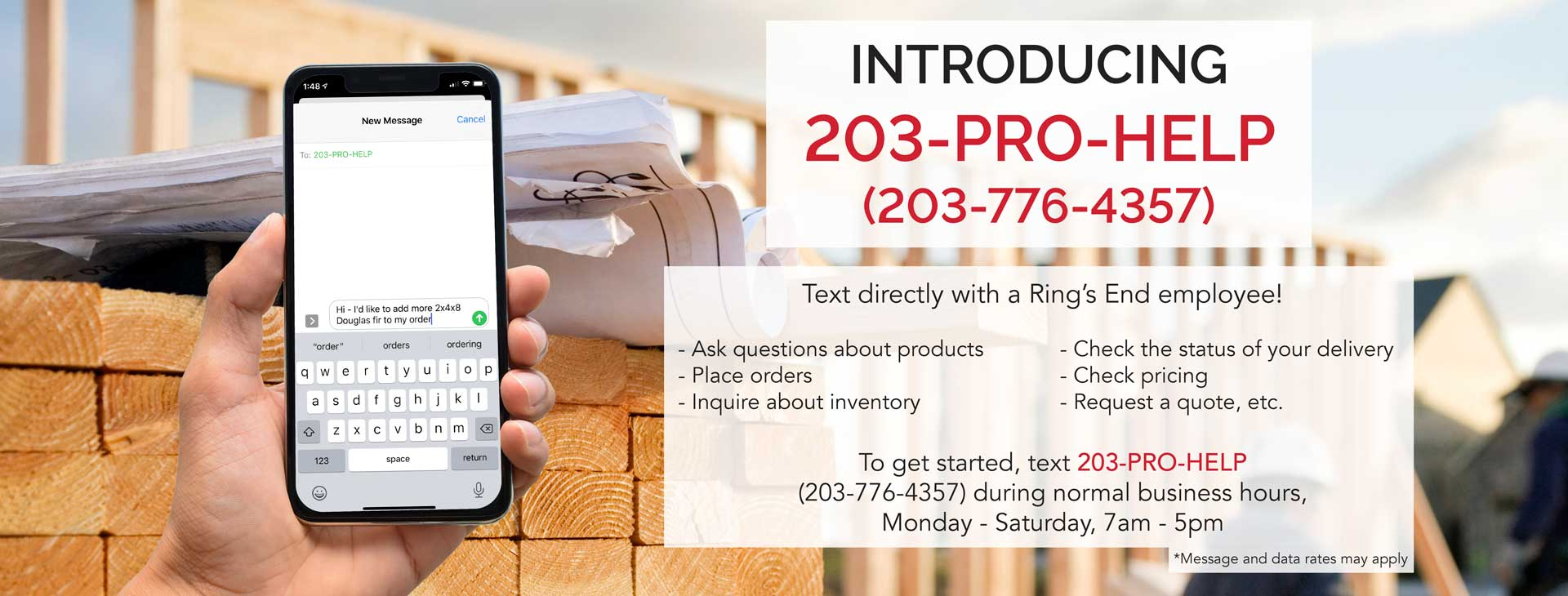 Call or Text 203-PRO-HELP